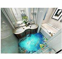 3D Tapeten Badezimmer 3D Bodenfliesen Ozean