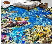 3D Tapeten Boden Aufkleber Pvc-Materialozeanwelt