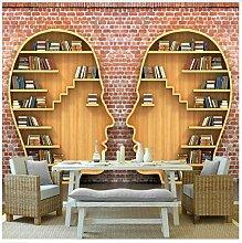 3D Tapeten Wandbild 3D Bücher Bücherregal