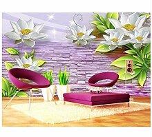 3D Tapeten Wandbild Blumen 3D Tapete Wände Für