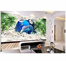 3D Tapeten Wandbild Tapete Für Wände 3 D Dolphin