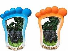 3D Thailand Kühlschrankmagnet Fußform