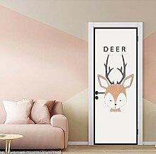 3D Tier Deer Tür Aufkleber Für Kind Schlafzimmer