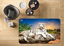3D Tiger 215 Rutschfest Teppich Matte Raum Matte