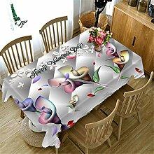 3D Tischdecke Farbiges Papier Blumenmuster