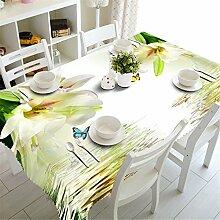 3D Tischdecke Lila Lila Blumen Muster Polyester