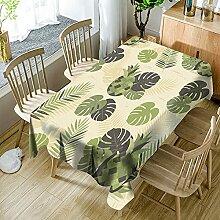 3D Tischdecke Rechteck,Pflanze Ananasblätter