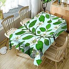 3D Tischdecke Rechteck,Pflanze Frühlingsblumen