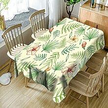 3D Tischdecke Rechteck,Pflanze Hibiskus Blumen Und