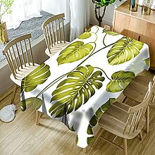 3D Tischdecke Rechteck,Pflanze Hübsche Blätter