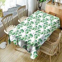 3D Tischdecke Rechteck,Pflanze Tropische Blätter