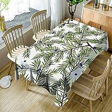 3D Tischdecke Rechteck,Pflanze Zweige Und Blätter