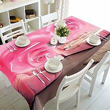 3D Tischdecke Schöne Lila Blumen Muster