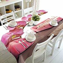 3D Tischdecke Schöne Lila Blumen Muster Wasserdichte Tuch Verdicken Rechteckige Hochzeit Tischtuch Heimtextilien Color 4 150cm X 230cm