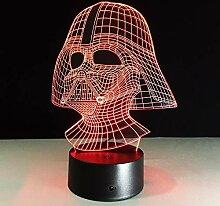 3D Tischlampe LED Nachtlicht 7 bunte Kinder