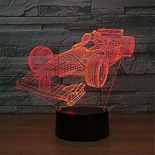 3D-Tischlampe Mit Optischer Täuschung 7 Farben