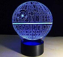 3D Todesstern Nachtlichter Optische Visualisierung