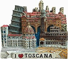 3D Toscana Italien Kühlschrankmagnet, Souvenir,