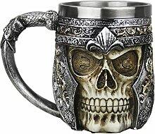 3D Totenkopf Design Schädel Tasse Creative Kaffee