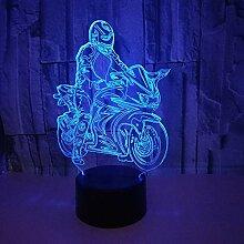 3D Touch LED Nachtlicht Kreatives Reiten Motorrad