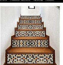 3D Treppen Aufkleber Fliesenmuster Haus Treppe