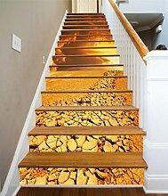 "3D Trocknen Fluss 40 Stair Risers Dekoration Fototapete Vinyl Aufkleber Tapete DE Carly (13x H:18cm x W:94cm (7""x37""))"