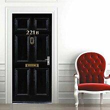 3D-Tür-Aufkleber 211 Baker