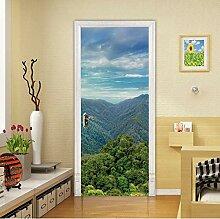 3D Tür Aufkleber Für Wohnzimmer Schlafzimmer Pvc
