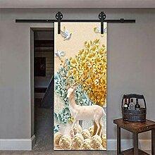 3D Tür Aufkleber Hirsch 3D Tür Aufkleber