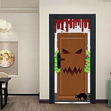 3D Tür Aufkleber Kannibale Monster Tür Tür