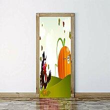 3D Tür Aufkleber Krähe Pvc Wasserdicht