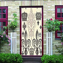 3D Tür Aufkleber Retro Wohnkultur Selbstklebende