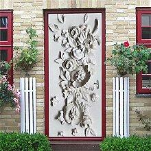 3D Tür Aufkleber Schöne Blume Tür Aufkleber