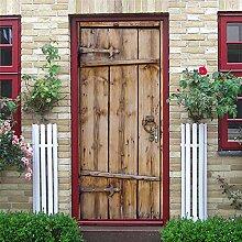 3D Tür Aufkleber Vintage Tür Pvc Wasserdicht