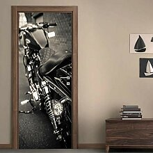 3d tür aufkleber wandbilder Kühles Motorrad