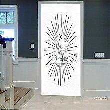 3D Türaufkleber Adorer Wasserdichte Tür