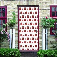 3D Türaufkleber Couleur Simple Diy Home Decor