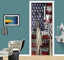 3D Türaufkleber DIY Wandbilder Kunst Abziehbilder