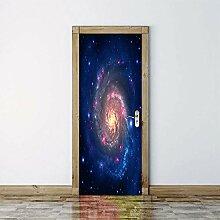 3D Türaufkleber Espace Wasserdichte Tür