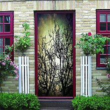 3D Türaufkleber Forêt Wasserdichte Tür