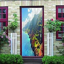 3D Türaufkleber Île Wasserdichte Tür Aufkleber
