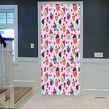 3D Türaufkleber Impression Couleur Diy Home Decor