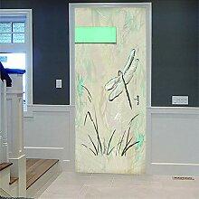 3D Türaufkleber Insecte Wasserdichte Tür