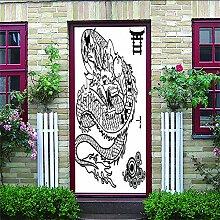 3D Türaufkleber Longue Wasserdichte Tür