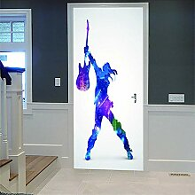 3D Türaufkleber Musicien Diy Home Decor Tapete