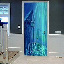 3D Türaufkleber Nuit Wasserdichte Tür Aufkleber