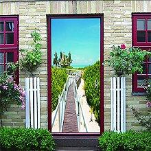3D Türaufkleber Paysage Wasserdichte Tür
