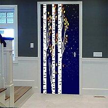 3D Türaufkleber Peuplier Wasserdichte Tür