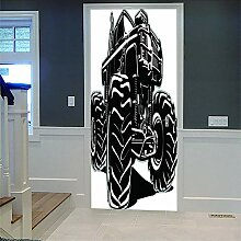3D Türaufkleber Voiture Diy Home Decor Tapete