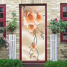 3D Türaufkleber Wandbild Schöne Blume Tür